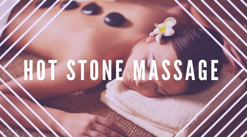woman in hot stone massage therapy
